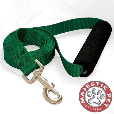 Majestic Pet Products 1in x 4ft Easy Grip Handle Leash Green By Majestic Pet Products - Peazz Pet