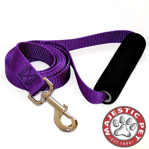 Majestic Pet Products 1in x 4ft Easy Grip Handle Leash Purple By Majestic Pet Products - Peazz Pet