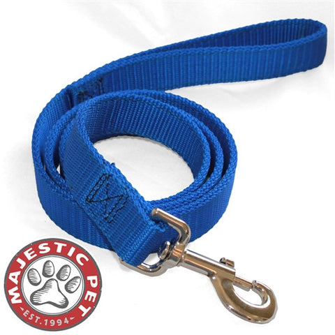 Majestic Pet Products 1in x 4ft Dbl Lead Blue By Majestic Pet Products - Peazz Pet