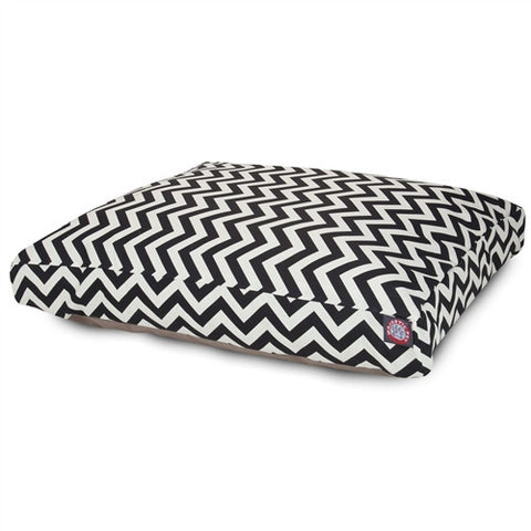 Majestic Pet Products Black Chevron Extra Large Rectangle Pet Bed - Peazz Pet