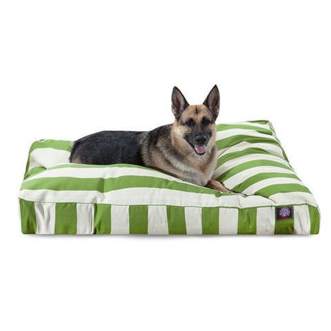 Majestic Pet Products Sage Vertical Stripe Extra Large Rectangle Pet Bed - Peazz Pet