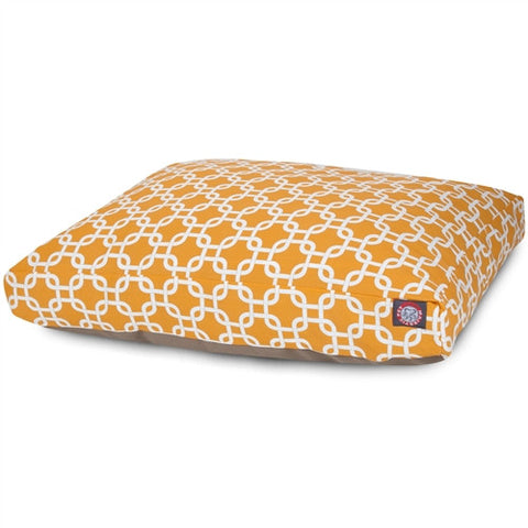 Majestic Pet Products Yellow Links Extra Large Rectangle Pet Bed - Peazz Pet