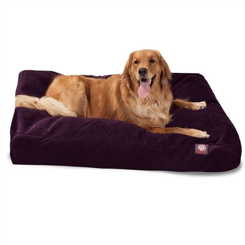 Majestic Pet Products Aubergine Villa Collection Extra Large Rectangle Pet Bed - Peazz Pet