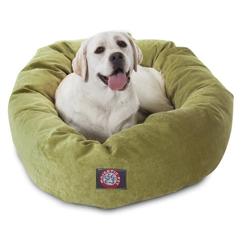 "Majestic Pet Products 40"" Apple Villa Collection Micro-Velvet Bagel Bed By Majestic Pet Products - Peazz Pet"
