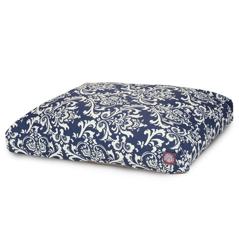 Majestic Pet Products Navy Blue French Quarter Extra Large Rectangle Pet Bed - Peazz Pet