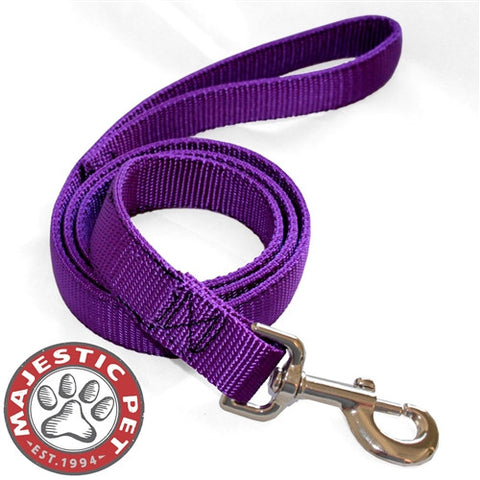 Majestic Pet Products 1in x 4ft Dbl Lead Purple By Majestic Pet Products - Peazz Pet