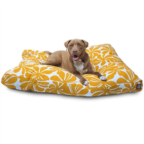 Majestic Pet Products Yellow Plantation Extra Large Rectangle Pet Bed - Peazz Pet