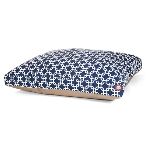 Majestic Pet Products Navy Blue Links Extra Large Rectangle Pet Bed - Peazz Pet