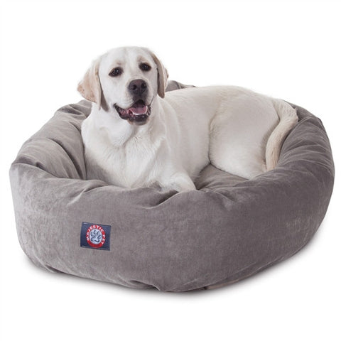 "Majestic Pet Products 40"" Vintage Villa Collection Micro-Velvet Bagel Bed By Majestic Pet Products - Peazz Pet"