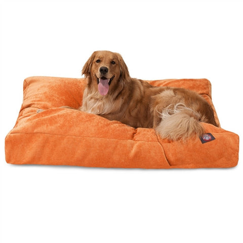 Majestic Pet Products Orange Villa Collection Extra Large Rectangle Pet Bed - Peazz Pet