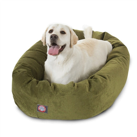 "Majestic Pet Products 40"" Fern Villa Collection Micro-Velvet Bagel Bed By Majestic Pet Products - Peazz Pet"