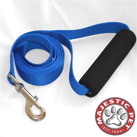 Majestic Pet Products 1in x 4ft Easy Grip Handle Leash Blue By Majestic Pet Products - Peazz Pet