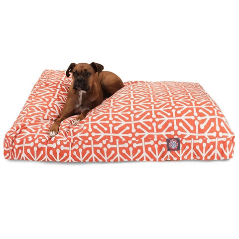 Majestic Pet Products Orange Aruba Extra Large Rectangle Pet Bed - Peazz Pet