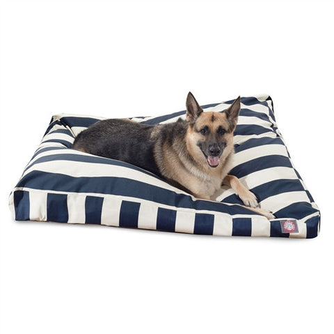 Majestic Pet Products Navy Blue Vertical Stripe Extra Large Rectangle Pet Bed - Peazz Pet