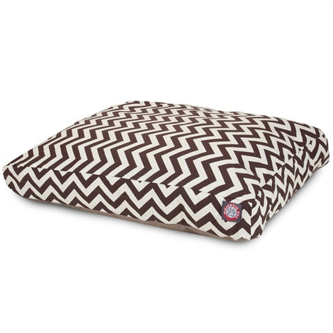 Majestic Pet Products Chocolate Chevron Extra Large Rectangle Pet Bed - Peazz Pet