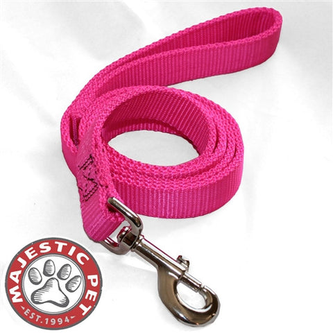 Majestic Pet Products 1in x 4ft Dbl Lead Pink By Majestic Pet Products - Peazz Pet
