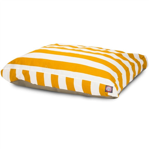 Majestic Pet Products Yellow Vertical Stripe Extra Large Rectangle Pet Bed - Peazz Pet