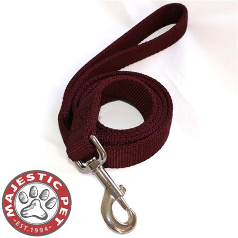 Majestic Pet Products 1in x 6ft Dbl Lead Burgundy By Majestic Pet Products - Peazz Pet