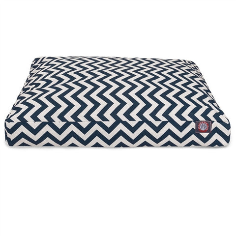 Majestic Pet Products Navy Blue Chevron Extra Large Rectangle Pet Bed - Peazz Pet