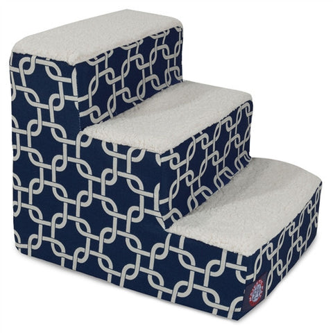 Majestic Pet Products 3 Step Navy Blue Links - Peazz Pet