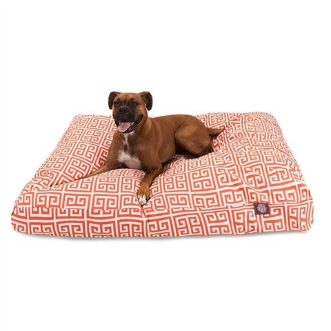 Majestic Pet Products Orange Towers Extra Large Rectangle Pet Bed - Peazz Pet