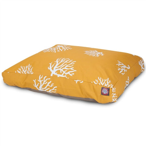 Majestic Pet Products Yellow Coral Extra Large Rectangle Pet Bed - Peazz Pet