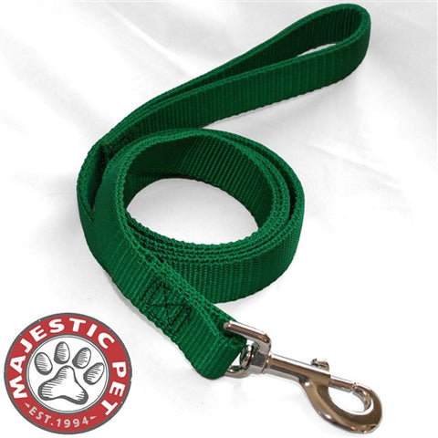 Majestic Pet Products 1in x 4ft Dbl Lead Green By Majestic Pet Products - Peazz Pet