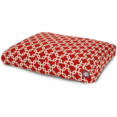 Majestic Pet Products Red Links Extra Large Rectangle Pet Bed - Peazz Pet