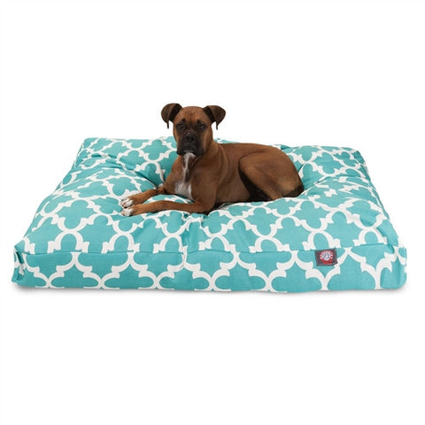 Majestic Pet Products Teal Trellis Extra Large Rectangle Pet Bed - Peazz Pet