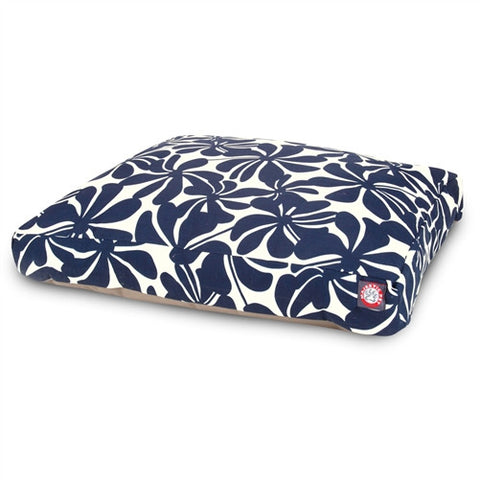 Majestic Pet Products Navy Blue Plantation Large Rectangle Pet Bed - Peazz Pet