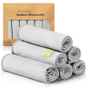 Active+ Bamboo Baby Washcloths (French Gray)