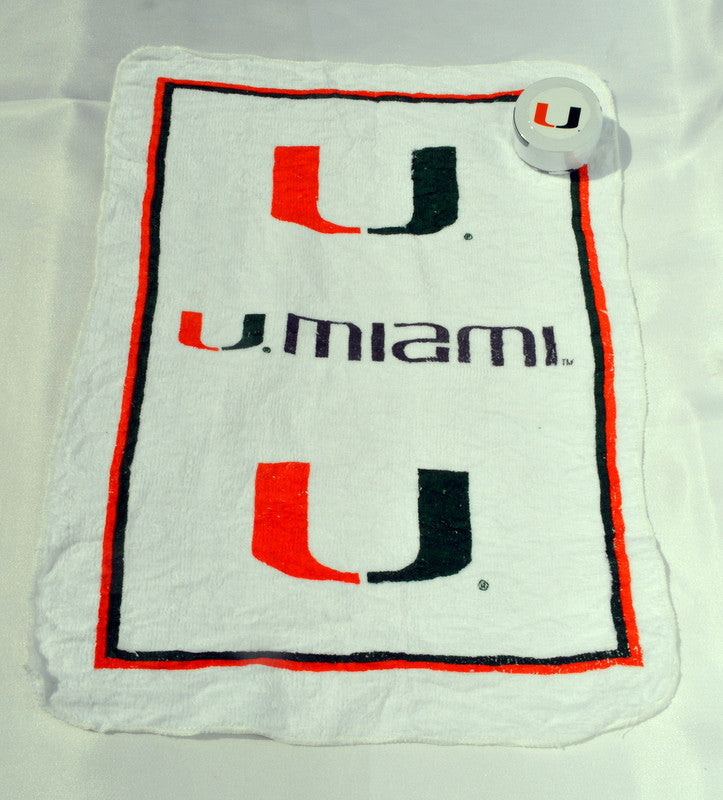 "Miami Hurricanes Magic Towel (11"" x 17"") - CanesWear at Miami FanWear Exclusive Miami FanWear CanesWear at Miami FanWear"