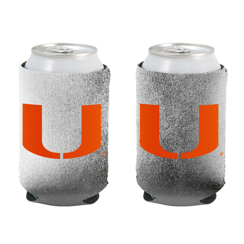Miami Hurricanes Silver Can Koozie