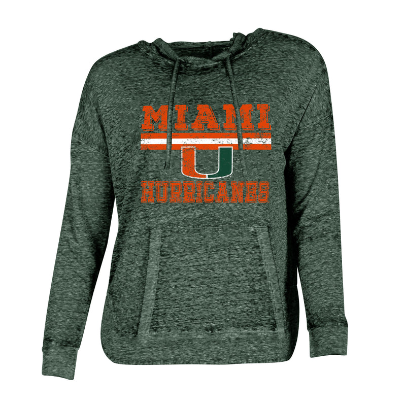 Miami Hurricanes Squad Ladies' Knit Hooded Top