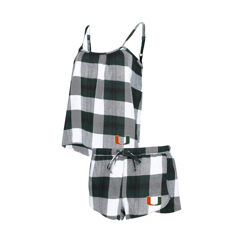 Miami Hurricanes Ladies' Flannel Pajamas Short Set
