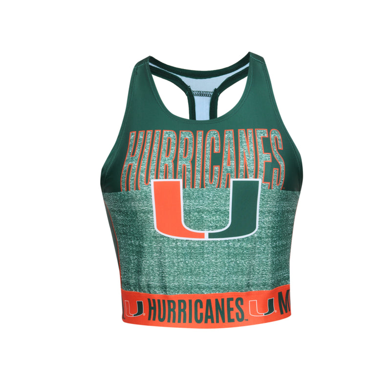 Miami Hurricanes Women's Infuse Sublimated Sports Bra/ Crop Top