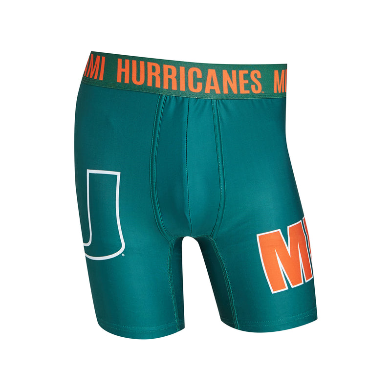 Miami Hurricanes Flyaway Men's Boxer Briefs