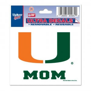 "Miami Hurricanes ""U Mom"" Ultra Decal 3"" x 4"" - CanesWear at Miami FanWear Decals & Stickers WinCraft CanesWear at Miami FanWear"