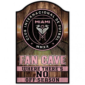 "Inter Miami CF Fan Cave Wood Sign - 11"" x 17"""