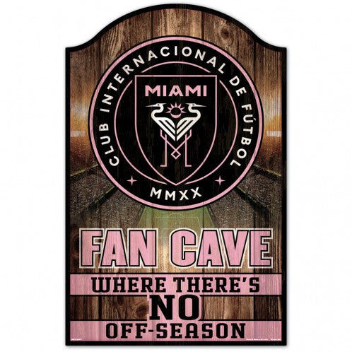 Inter Miami CF Fan Cave Wood Sign - 11