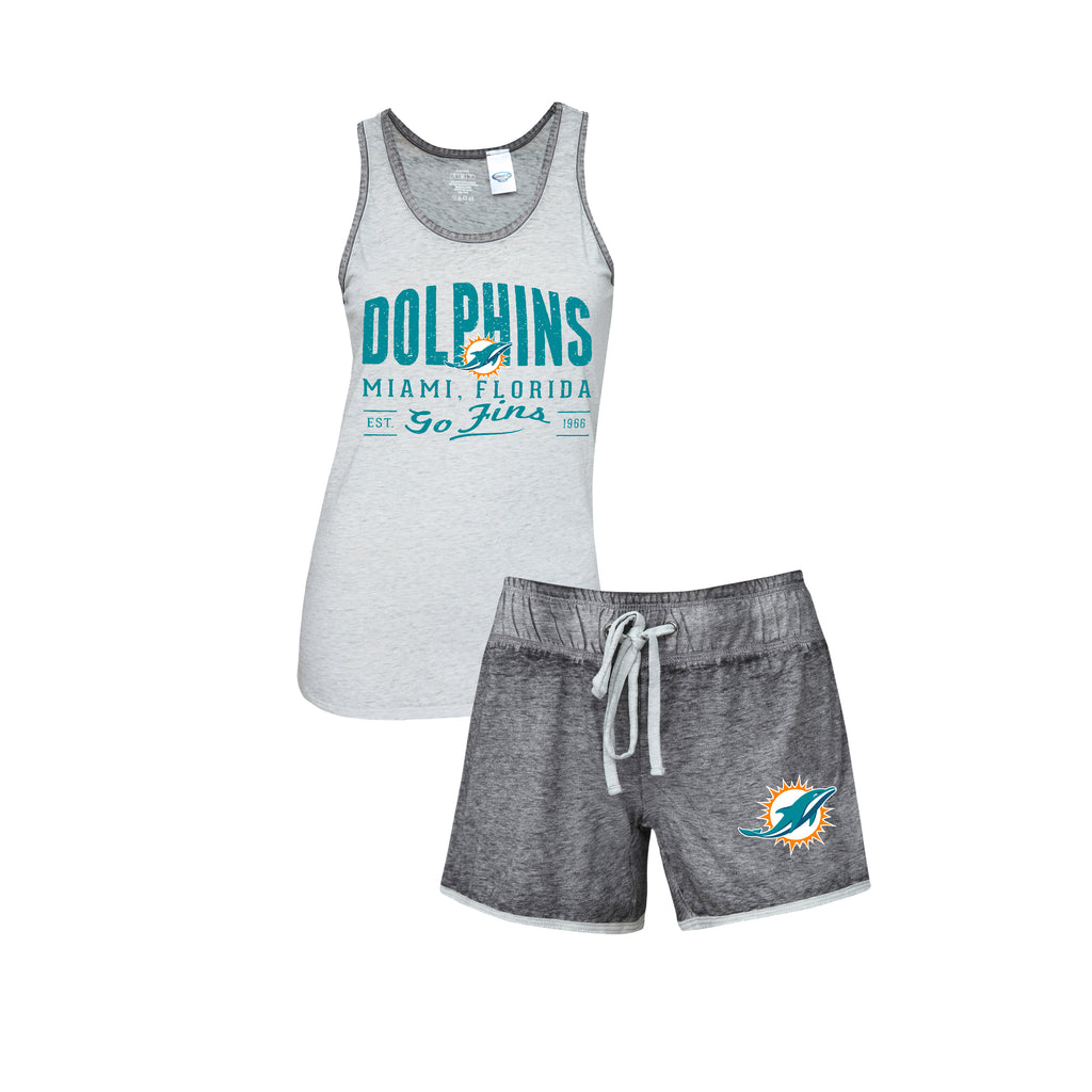 Miami Dolphins Women's Deed Knit Tank and Shorts Sleepwear Set