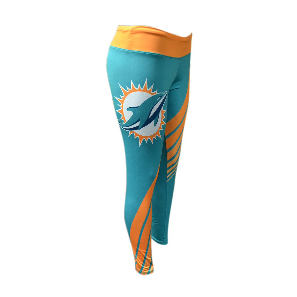 Miami Dolphins Women's Sublimation Leggings - CanesWear at Miami FanWear Women's Apparel Concepts Sport CanesWear at Miami FanWear