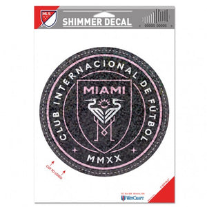 Inter Miami CF Shimmer Decal - 4.5""