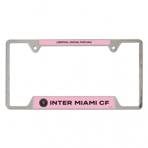 Inter Miami CF Metal License Plate Frame
