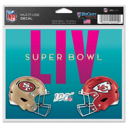 "Super Bowl LIV Dueling Multi-Use Decal - 5"" x 6"""