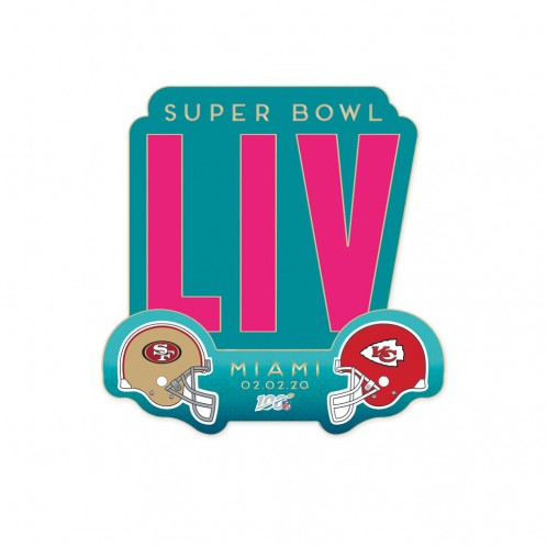 Super Bowl LIV Dueling Collector Lapel Pin - SF 49ers vs KC Chiefs