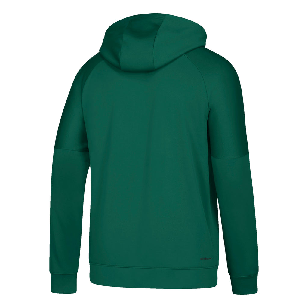 Miami Hurricanes 2019 Team Issue Hyper Initials Pullover Hood - Green