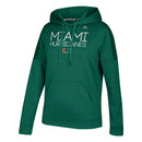 Miami Hurricanes adidas Women's Silver Dot Stack Team Issue Pull Over Hoodie - Green