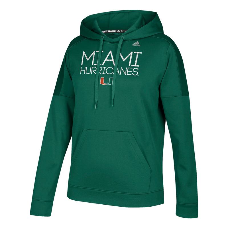 Miami Hurricanes 2019 Women's Silver Dot Stack Team Issue Pull Over Hoodie - Green