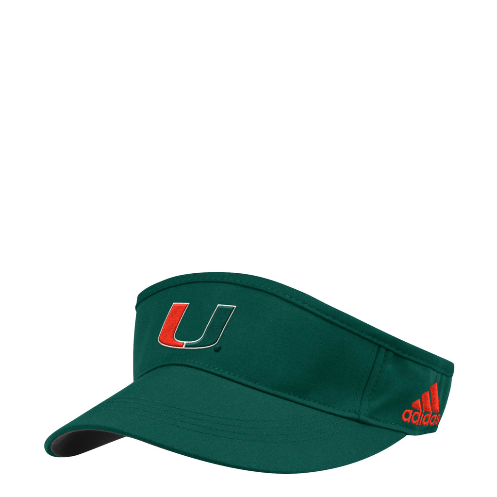 Miami Hurricanes adidas Spring Game Adjustable Visor - Green